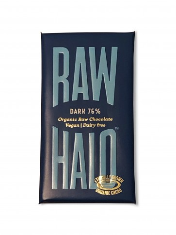 Raw Halo Pure Dark 76% Chocolate Bar 35g