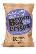 Brown Bag Crisps Rosemary & Sea Salt  40g